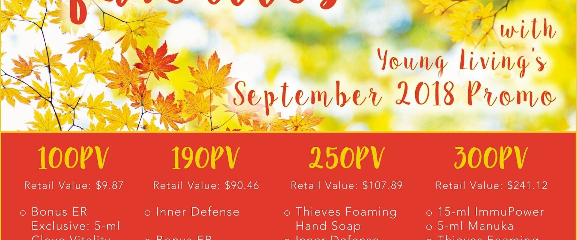 Be Prepared this Fall with the Latest Promo!