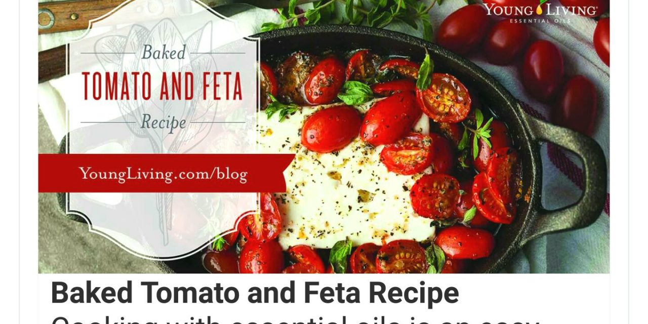 Simply Yum!! Baked Tomato and Feta!!