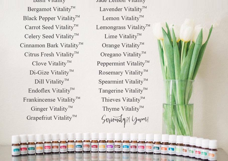 Young Living's full vitality line of essential oils!