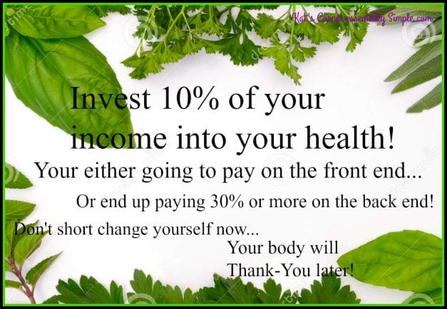 Have you thought about your health as a investment?