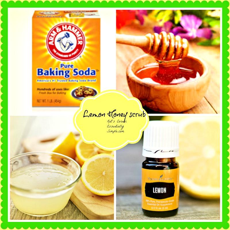Lemon honey baking soda scub