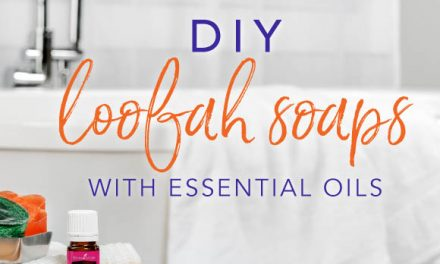DIY loofah soaps with essential oils